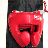 [USED未使用品]BOXER(ISAMI) ヘッドガード(IBX-280) 黒青 [u505-boxer-isami-headguard-18-rd]